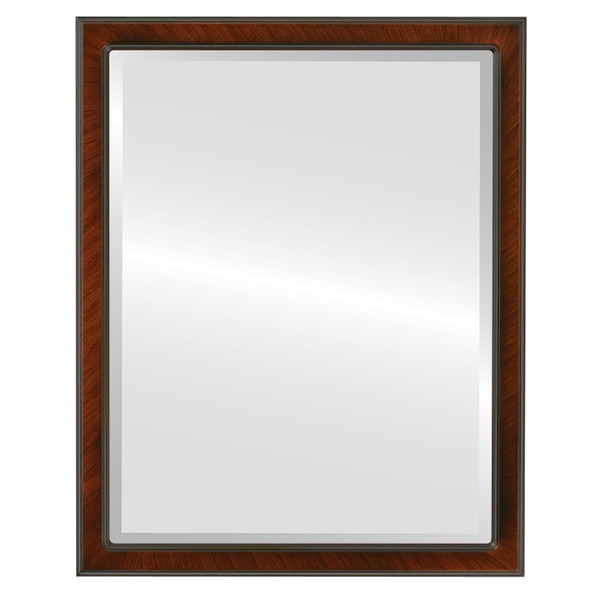 Beveled Mirror - Toronto Rectangle Frame - Vintage Walnut