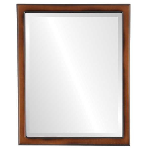 Beveled Mirror - Toronto Rectangle Frame - Walnut