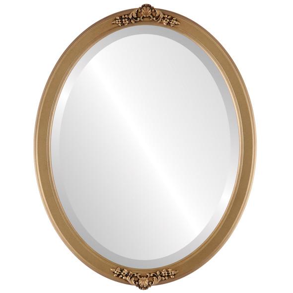Beveled Mirror - Athena Oval Frame - Desert Gold