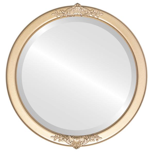 Beveled Mirror - Athena Round Frame - Desert Gold