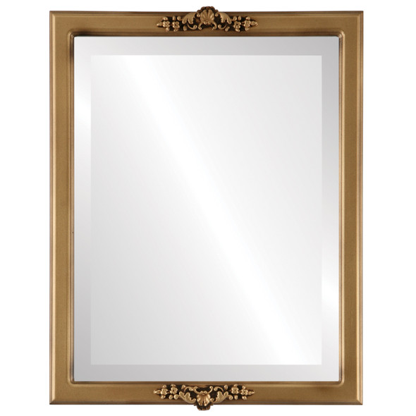 Beveled Mirror - Athena Rectangle Frame - Desert Gold