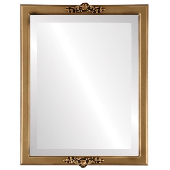 Beveled Mirror - Athena Rectangle Frame - Desert Gold