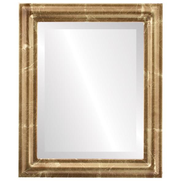 Beveled Mirror - Philadelphia Rectangle Frame - Champagne Gold