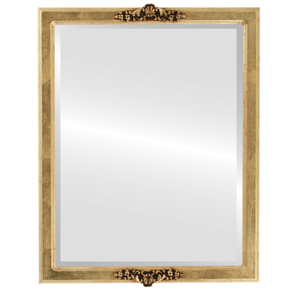 Beveled Mirror - Athena Rectangle Frame - Gold Leaf