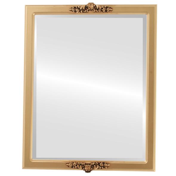 Beveled Mirror - Athena Rectangle Frame - Gold Spray