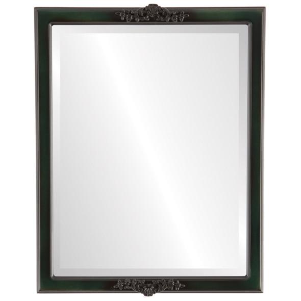 Beveled Mirror - Athena Rectangle Frame - Hunter Green