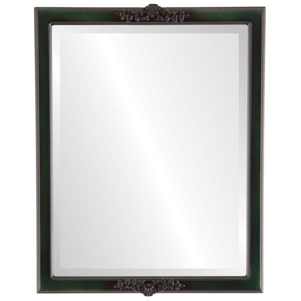 Beveled Mirror - Athena Rectangle Frame - Hunter Green