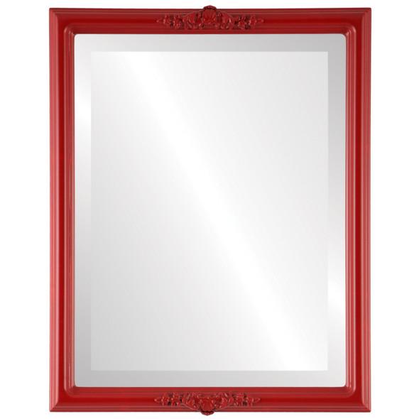 Beveled Mirror - Athena Rectangle Frame - Holiday Red