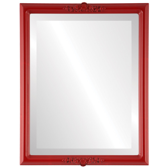 Beveled Mirror - Athena Rectangle Frame - Holiday Red
