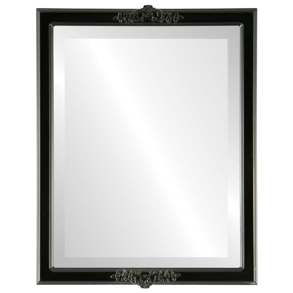 Beveled Mirror - Athena Rectangle Frame - Matte Black