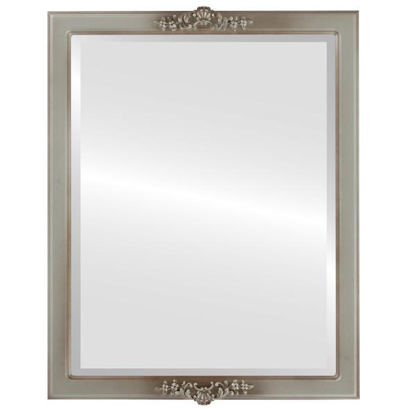 Beveled Mirror - Athena Rectangle Frame - Silver Shade