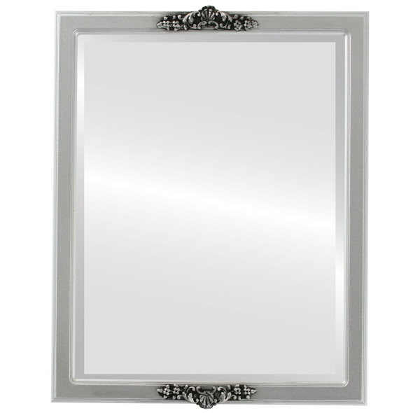 Beveled Mirror - Athena Rectangle Frame - Silver Spray