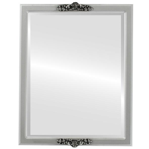 Beveled Mirror - Athena Rectangle Frame - Silver Spray