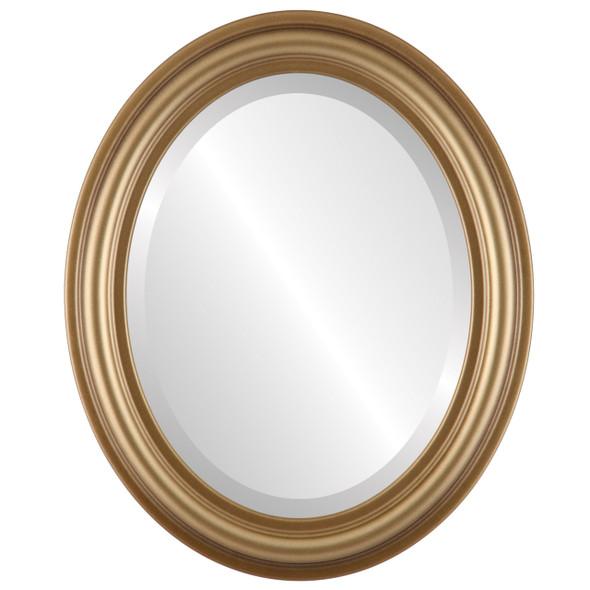 Beveled Mirror - Philadelphia Oval Frame - Desert Gold
