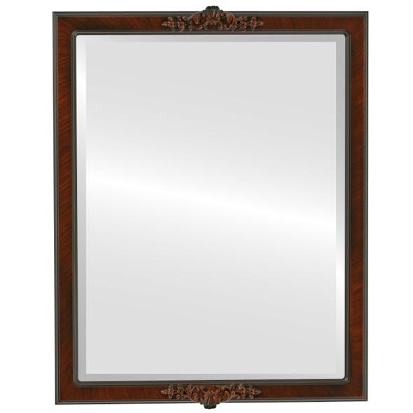 Beveled Mirror - Athena Rectangle Frame - Vintage Walnut