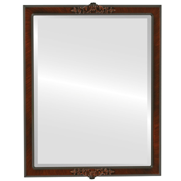 Beveled Mirror - Athena Rectangle Frame - Vintage Walnut