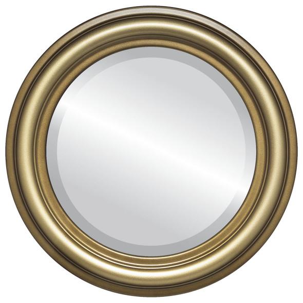 Beveled Mirror - Philadelphia Round Frame - Desert Gold