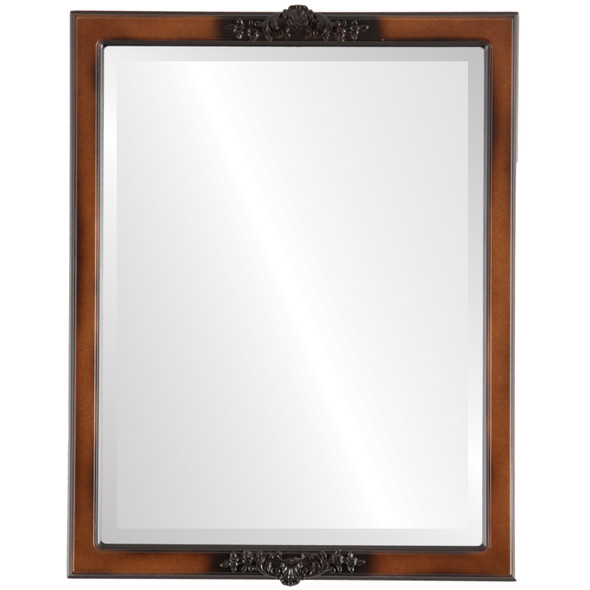 Beveled Mirror - Athena Rectangle Frame - Walnut