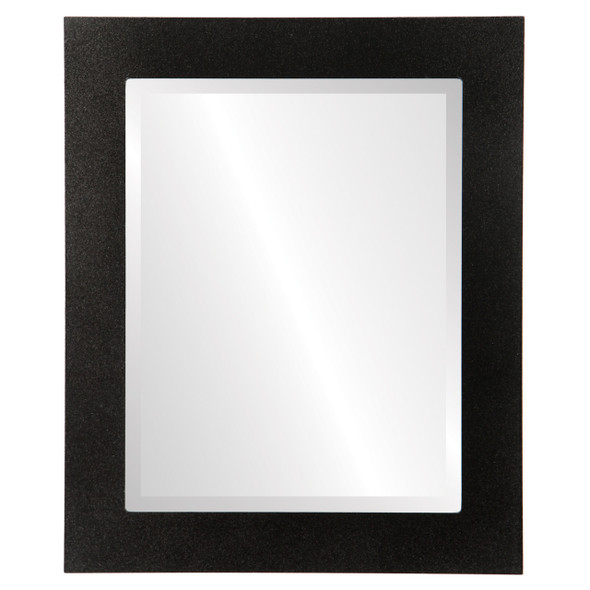 Beveled Mirror - Soho Rectangle Frame - Black Silver