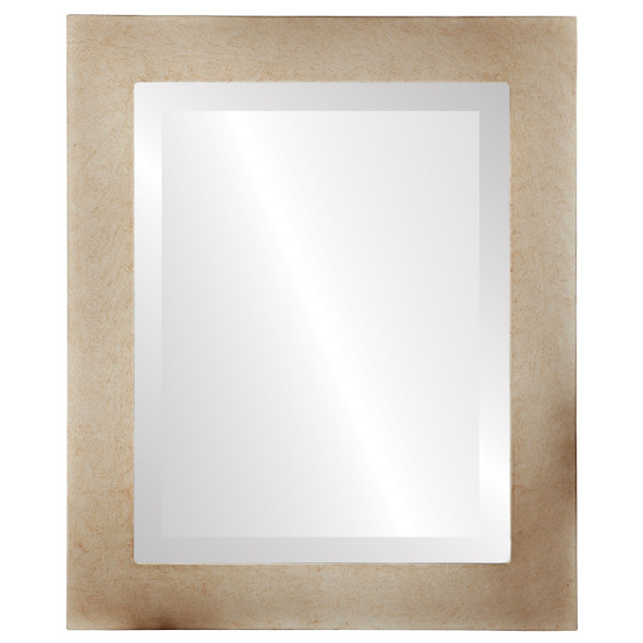 Beveled Mirror - Soho Rectangle Frame - Burnished Silver