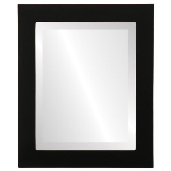 Beveled Mirror - Soho Rectangle Frame - Rubbed Black