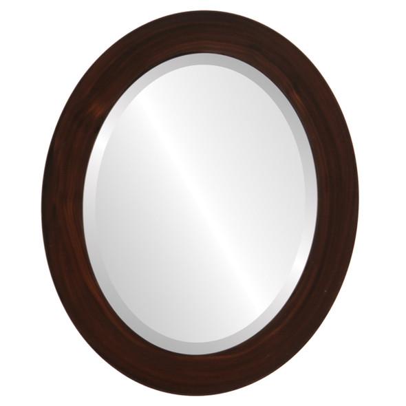 Beveled Mirror - Soho Oval Frame - Mocha