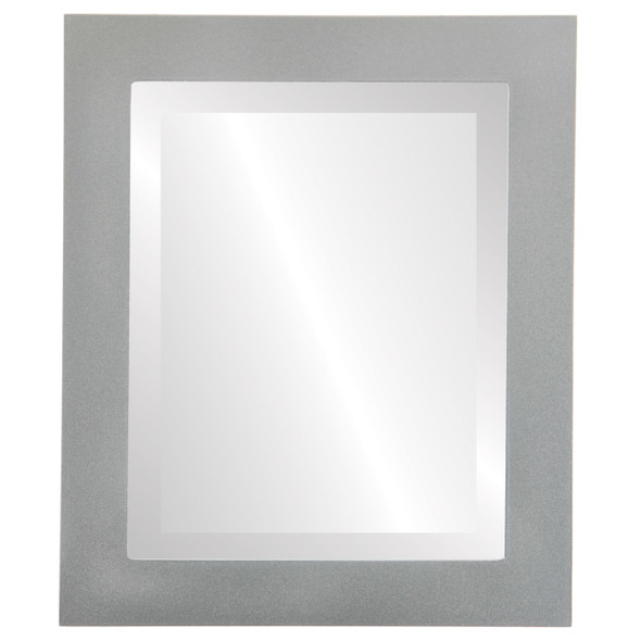 Beveled Mirror - Soho Rectangle Frame - Bright Silver