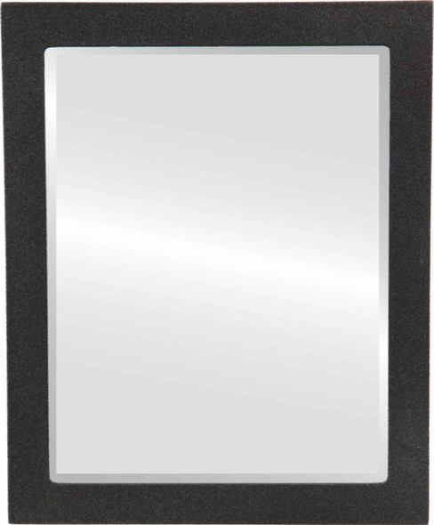 Beveled Mirror - Manhattan Rectangle Frame - Black Silver
