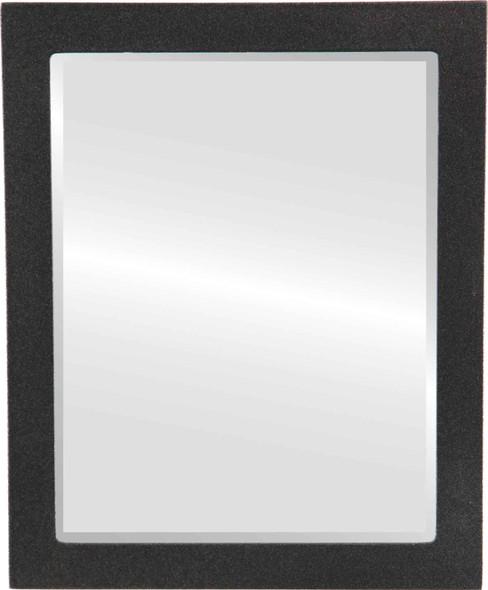 Beveled Mirror - Manhattan Rectangle Frame - Black Silver