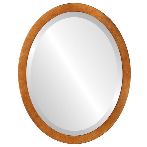 Beveled Mirror - Manhattan Oval Frame - Burnished Gold