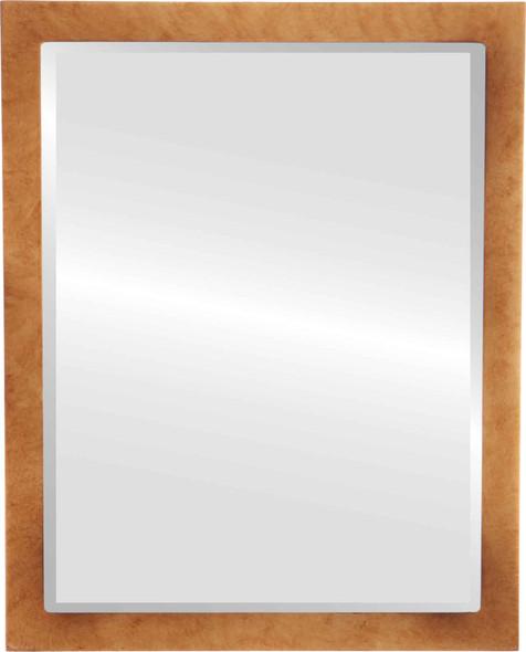 Beveled Mirror - Manhattan Rectangle Frame - Burnished Gold