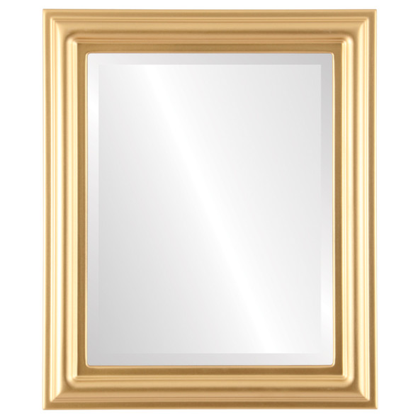 Beveled Mirror - Philadelphia Rectangle Frame - Gold Spray