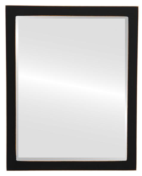 Beveled Mirror - Manhattan Rectangle Frame - Rubbed Black