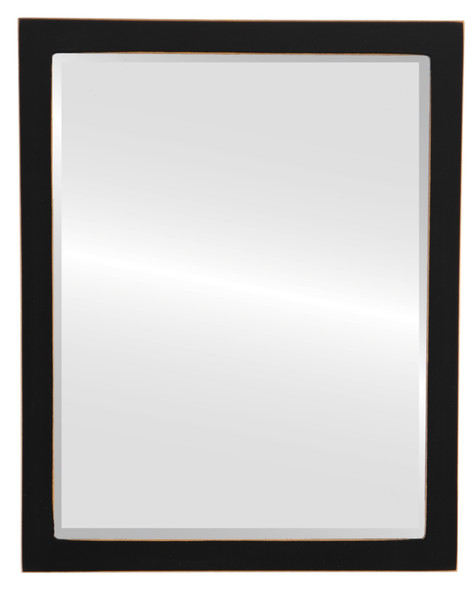 Beveled Mirror - Manhattan Rectangle Frame - Rubbed Black