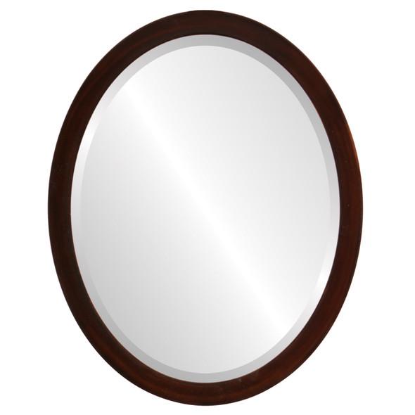 Beveled Mirror - Manhattan Oval Frame - Mocha
