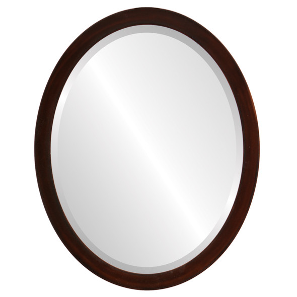 Beveled Mirror - Manhattan Oval Frame - Mocha