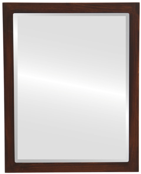 Beveled Mirror - Manhattan Rectangle Frame - Mocha