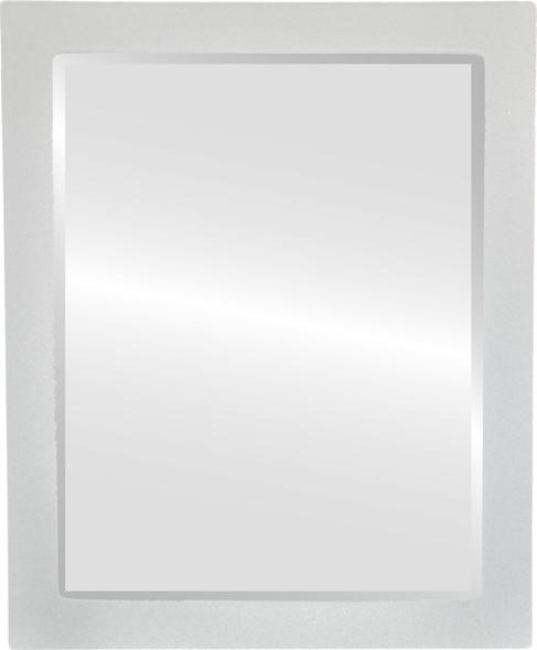 Beveled Mirror - Manhattan Rectangle Frame - Bright Silver