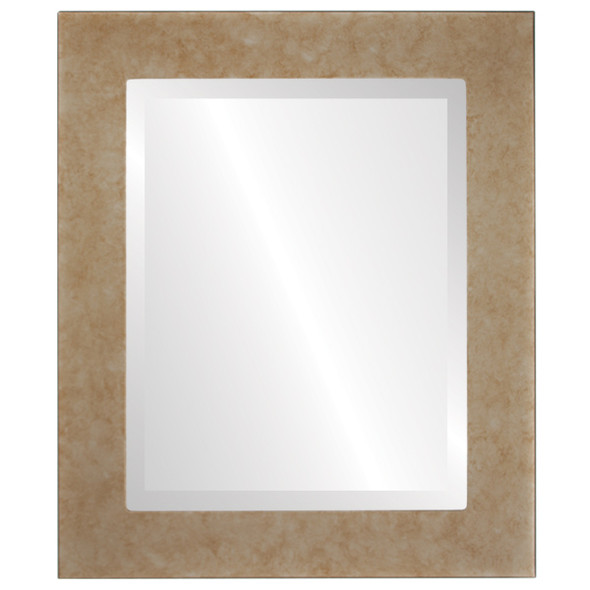 Beveled Mirror - Avenue Rectangle Frame - Burnished Silver