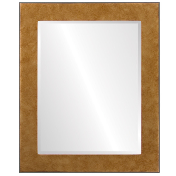 Beveled Mirror - Avenue Rectangle Frame - Burnished Gold