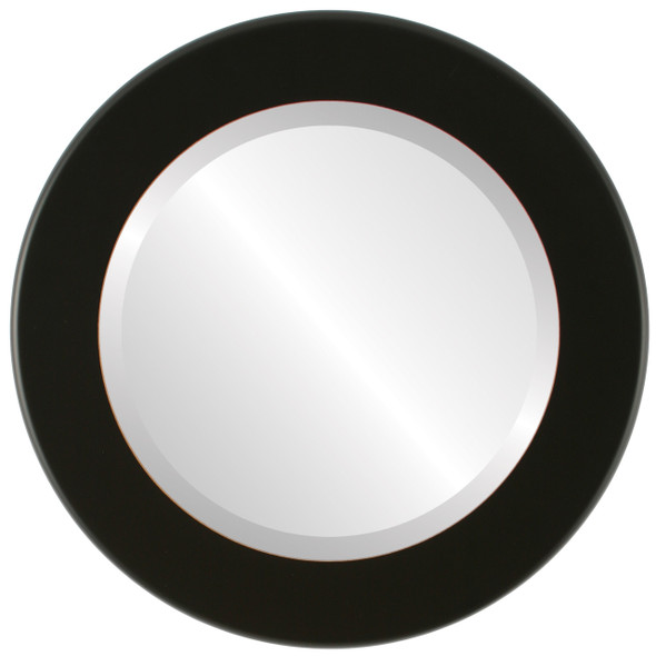 Beveled Mirror - Avenue Round Frame - Rubbed Black