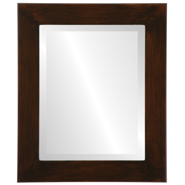 Beveled Mirror - Avenue Rectangle Frame - Mocha