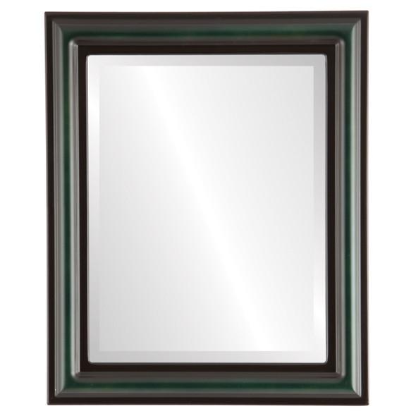 Beveled Mirror - Philadelphia Rectangle Frame - Hunter Green