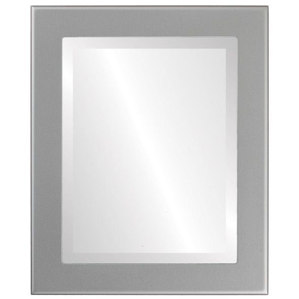 Beveled Mirror - Avenue Rectangle Frame - Bright Silver