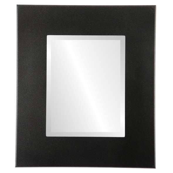 Beveled Mirror - Boulevard Rectangle Frame - Black Silver