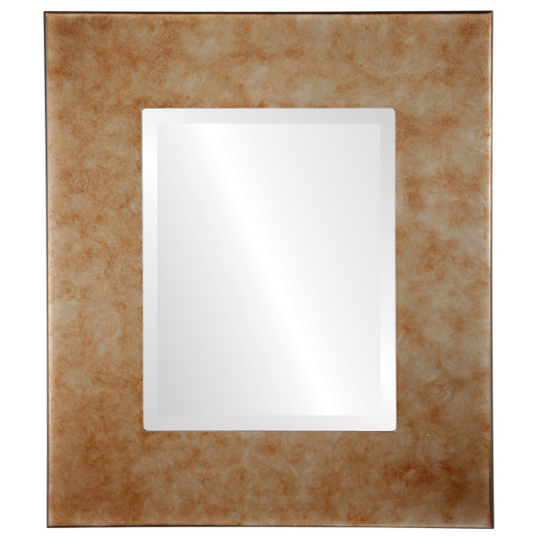 Beveled Mirror - Boulevard Rectangle Frame - Burnished Silver