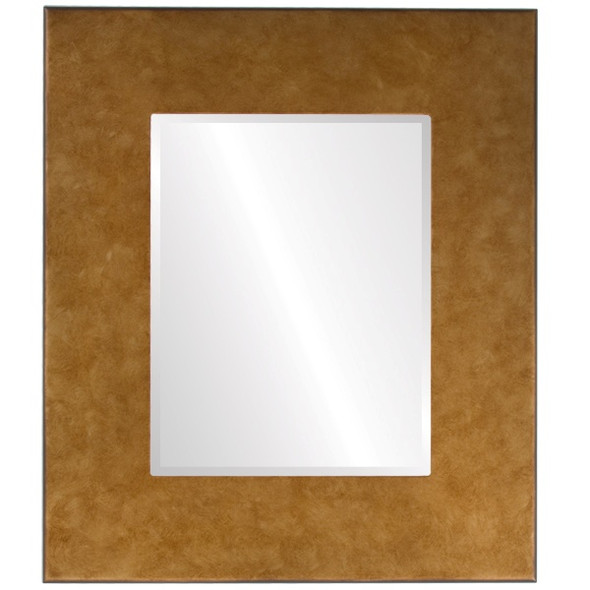 Beveled Mirror - Boulevard Rectangle Frame - Burnished Gold