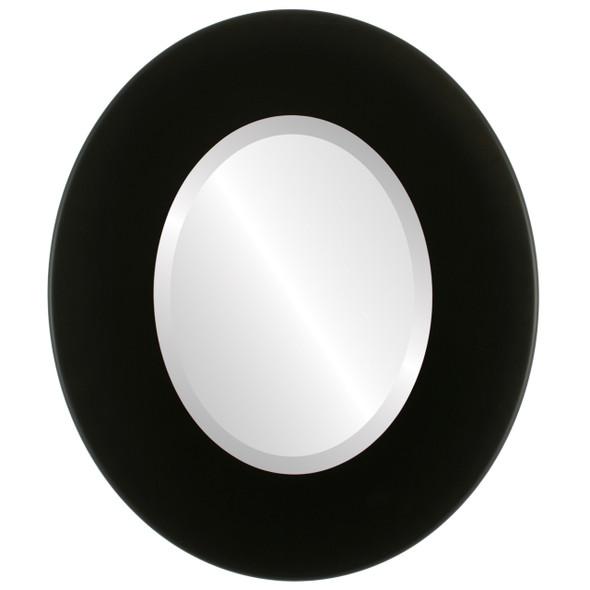 Beveled Mirror - Boulevard Oval Frame - Matte Black