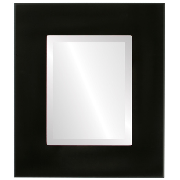 Beveled Mirror - Boulevard Rectangle Frame - Matte Black