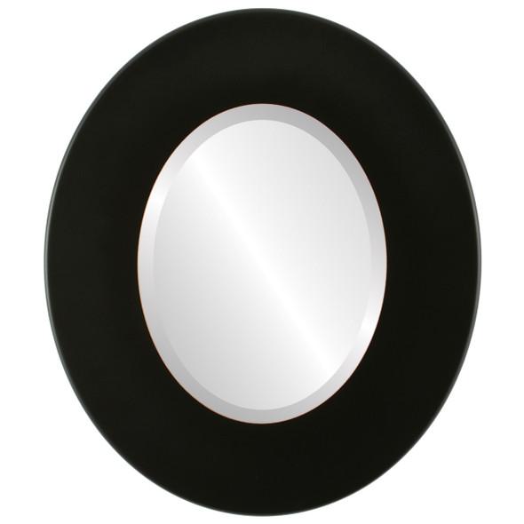 Beveled Mirror - Boulevard Oval Frame - Rubbed Black